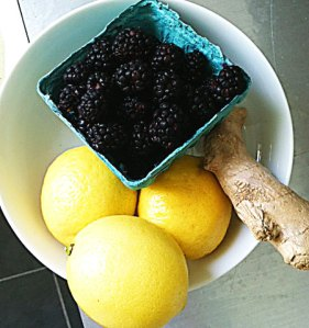 black berry ginger lemonade